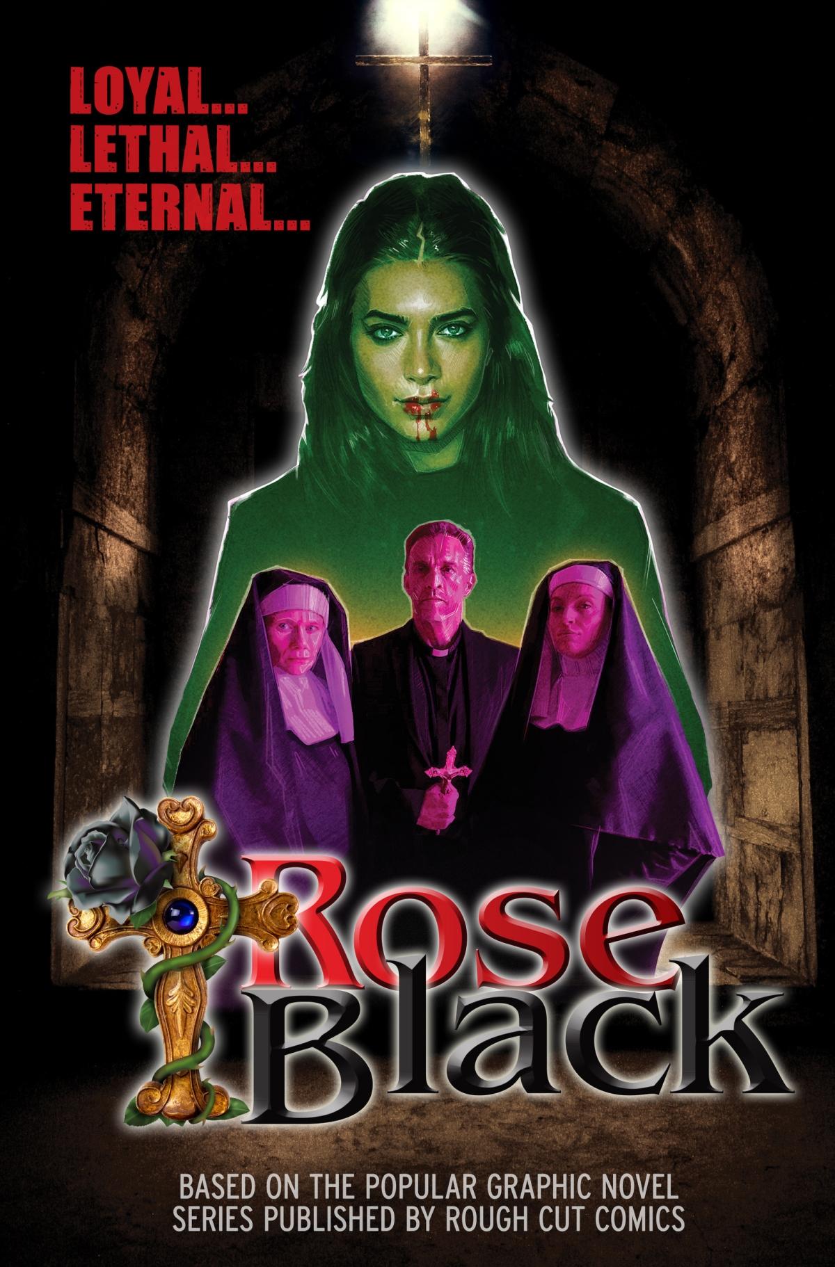 Rose Black Poster